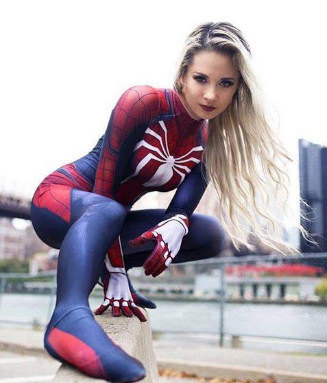 female spider-man cosplay